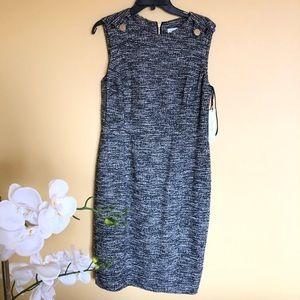 NWT Calvin Klein Black Dress size 14